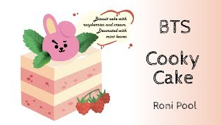 [BTS Fanart]  BT21 Cooky Cake Chibi speed Drawing - Roni Pool
