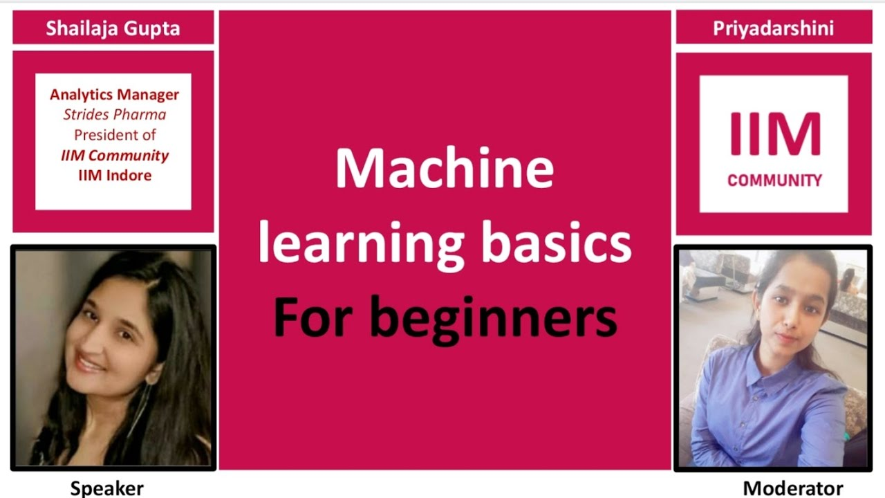 Machine learning basics for beginners - YouTube