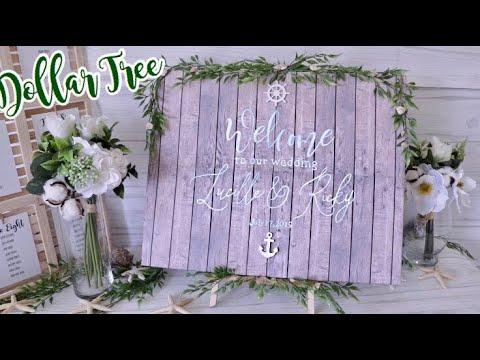 DOLLAR TREE Wedding Welcome Sign | Wedding Decor