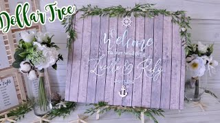 DOLLAR TREE Wedding Welcome Sign | Wedding Decor