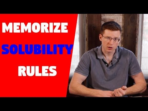 Trick For Memorizing Solubility Rules