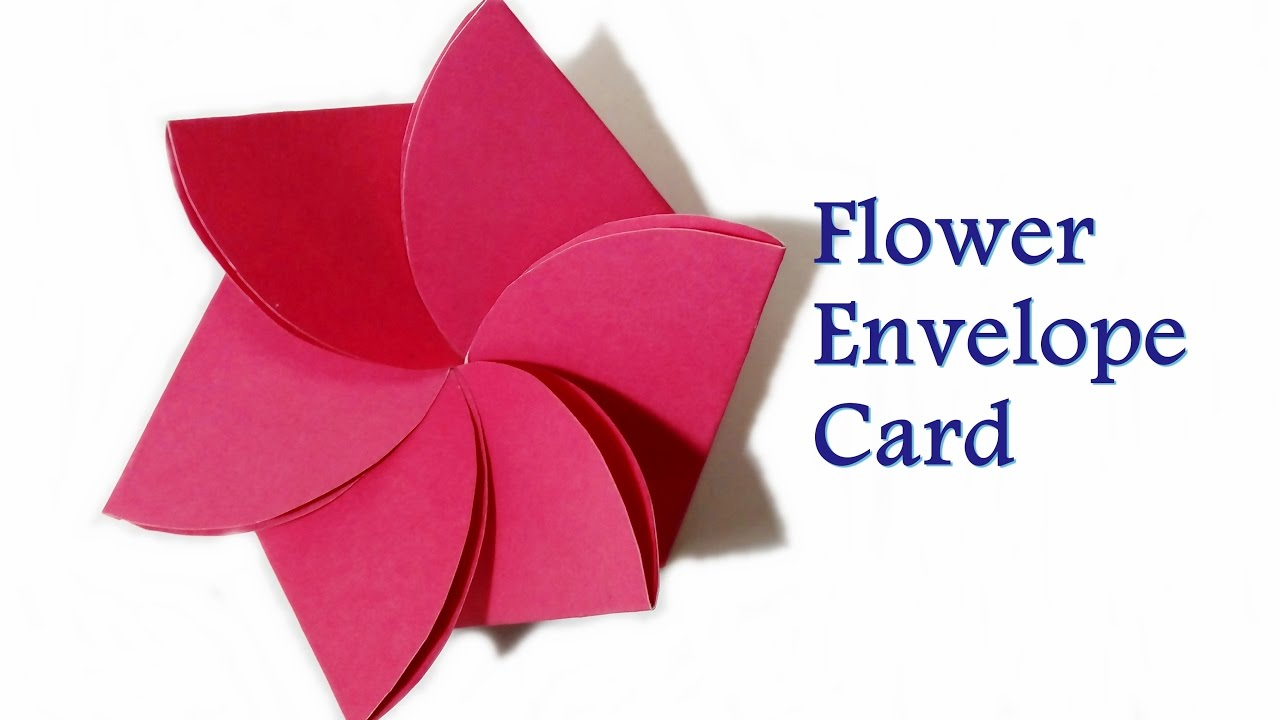 How to make flower envelope flower card pop up birthday how to make flower envelope flower card pop up birthday card craftastic jeuxipadfo Image collections