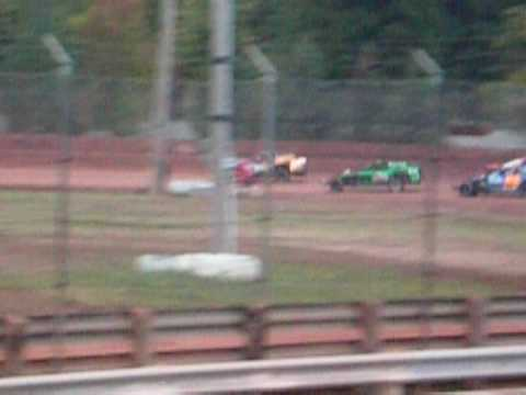 Rob Schmid IMCA modified at Langlade County Speedway