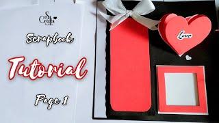 Scrapbook Tutorial ✂� | Page 1/16 | Handmade | Scrapbook making | Gift Designs