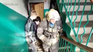 Во время пожара на ул. Кутузова в Туле спаслась пенсионерка