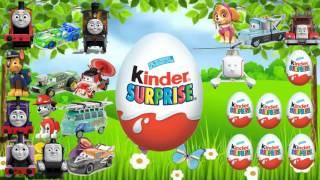 Щенячий патруль на русском [игры для детей] Киндер Сюрприз 24 яйца онлайн