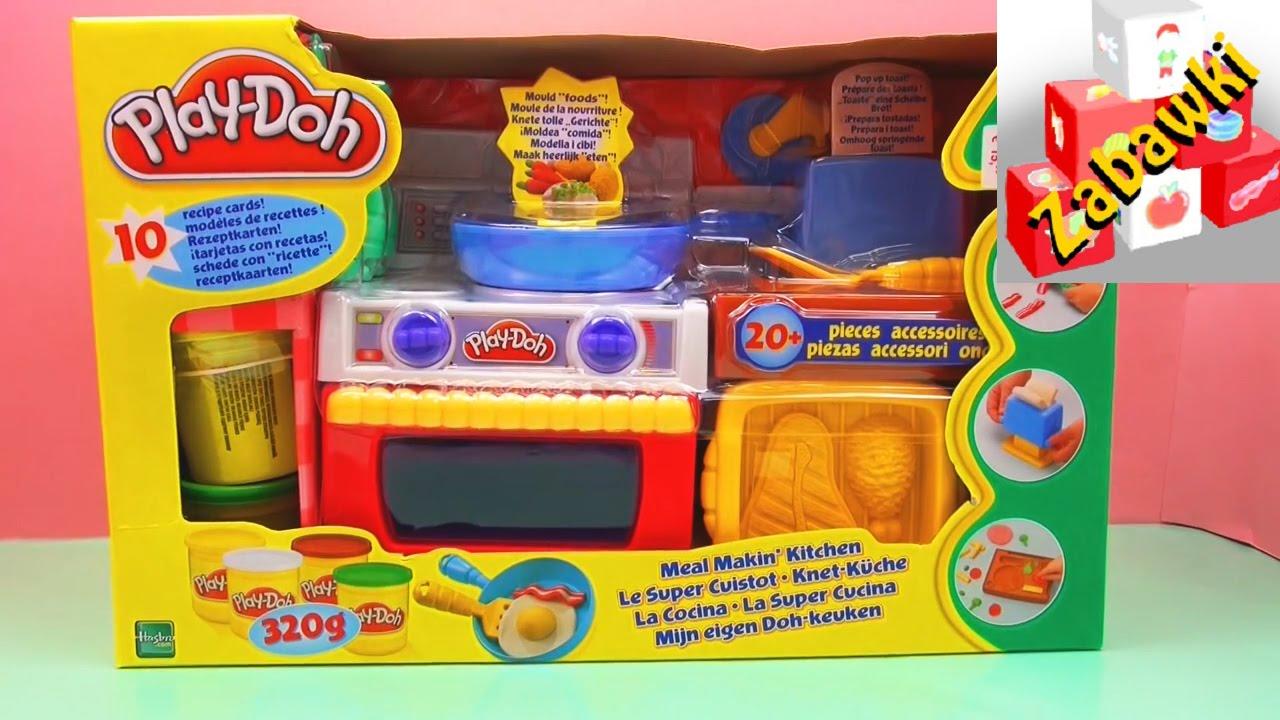 Play Doh Kitchen Kuchnia Z Ciastoliną Przepisy Na Dania Z Ciastoliny Unboxing
