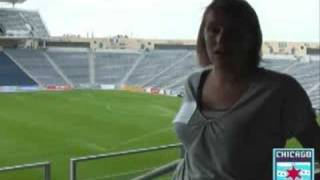 Chicago Red Stars Head Coach, Emma Hayes, Tours Toyota Park