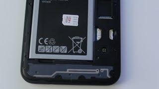 sasmung Galaxy J7 How to remove and install sim card and memory card