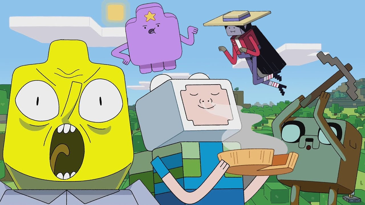 the adventure time minecraft episode might be acceptable youtube