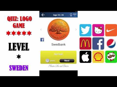 Quiz: Logo Game Sweden - All Answers - Walkthrough ( By Lemmings at work )