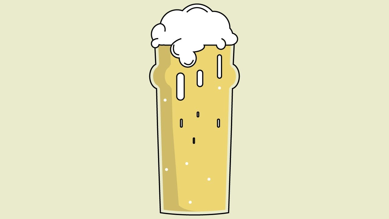 how to draw beer in flat design style adobe illustrator tutorial