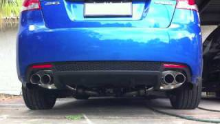 Stock and New Exhaust on the Holden SV6 SIDI 2010
