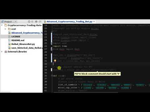 Import CCXT -  Python Binance Crypto Trading Bot - Chapter 5.2