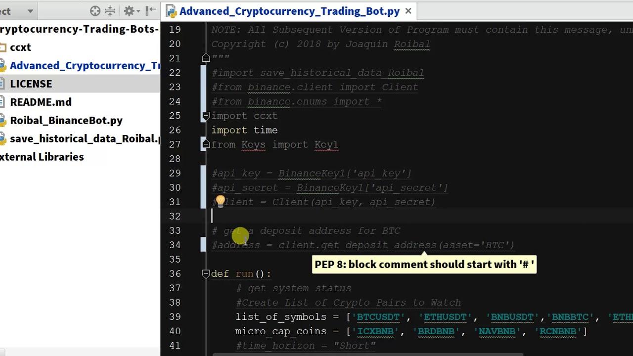 Import CCXT - Python Binance Crypto Trading Bot - Chapter 5 2