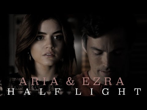 did aria and ezra dating in real life