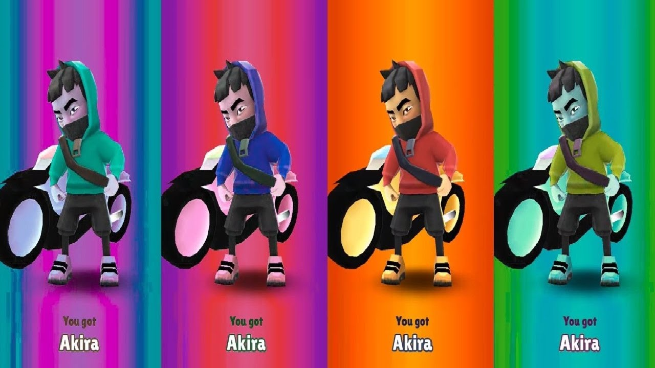 Colors Reaction Subway Surfers World Tour 2021 - Tokyo - New Update New Character Akira Unlocked
