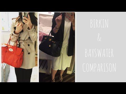 Hermes Birkin & Mulberry Bayswater Comparison