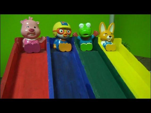 뽀로로 컬러 미끄럼틀 장난감 놀이 Pororo Color Slide Toys Play