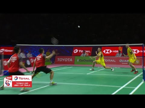 Thomas Cup   What a save from Zhang Nan!   BWF 2018