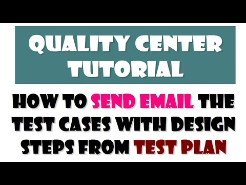 HP QC Tutorials | How to send Email the test cases with design steps from Test plan