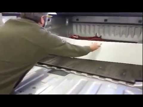 pickup bed folding divider - youtube