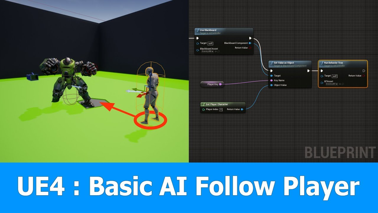 Unreal Engine AI Controller Follow Player
