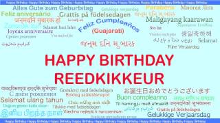 Reedkikkeur   Languages Idiomas - Happy Birthday