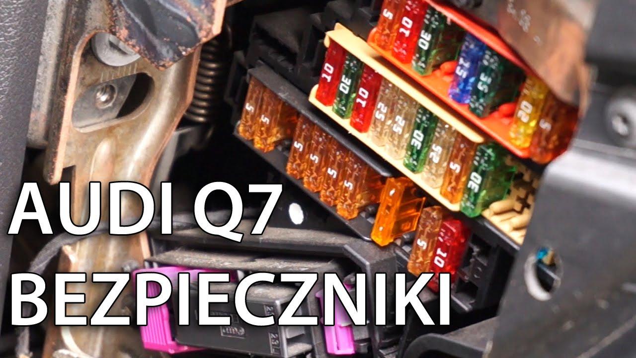 Gdzie s zlokalizowane bezpieczniki w Audi Q7 YouTube