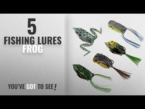 Top 10 Fishing Lures Frog [2018]: RUNCL Topwater Frog Lures, Soft Fishing Lure Kit With Tackle Box