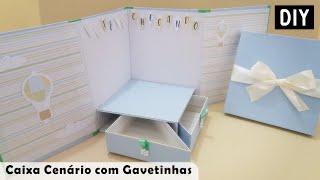 Como fazer Caixa Surpresa com Gavetas - Caixa Cenário para Mini Bolo | Keithy DIY