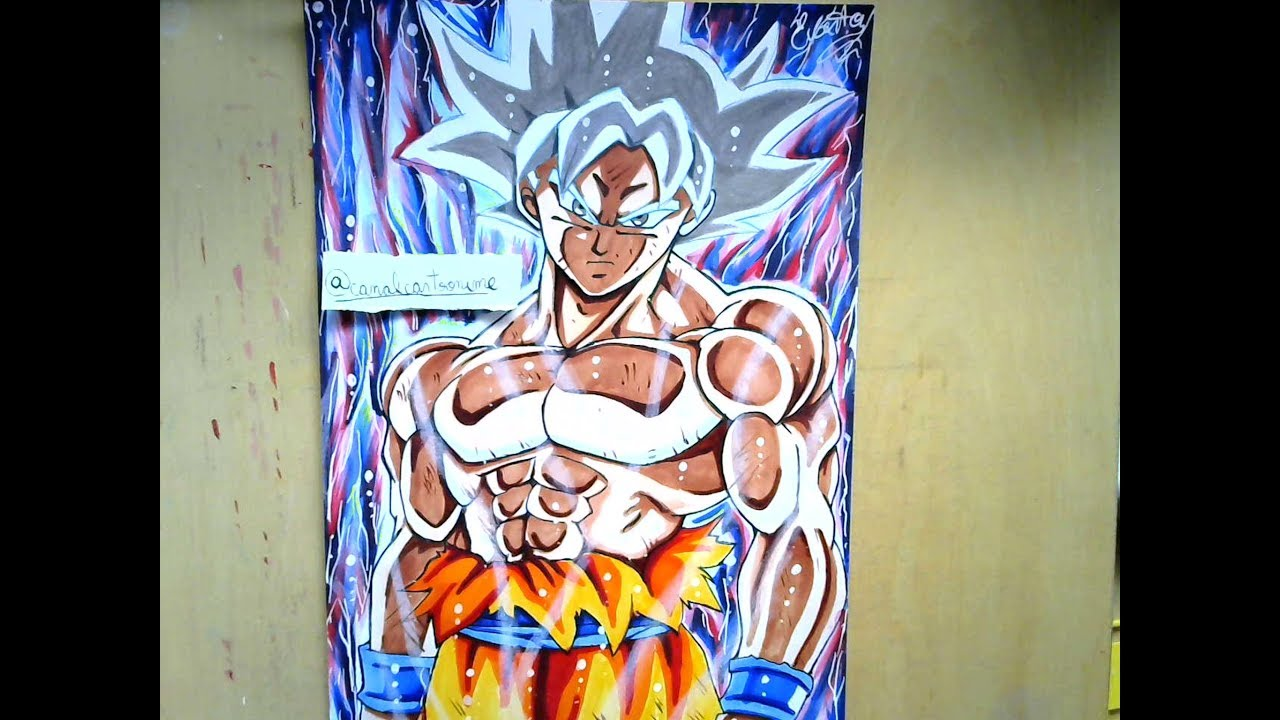 Speed drawing goku mastered ultra instinct migatte no gokui youtube - Goku ultra instinct sketch ...