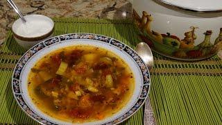 Вегетарианский овощной суп_Vegetarian vegetable soup