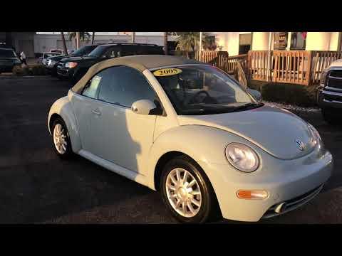 2005 Volkswagen New Beetle Convertible Stock 19035a