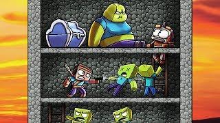 Minecraft | ZOMBIE BATTLE FORT - Survive or Die! (Fat, Doctor, Hazmat Zombie)