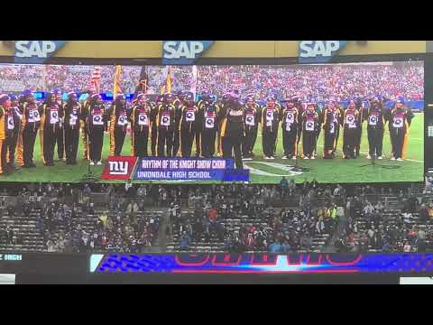 National Anthem NY Giants Uniondale High School Show Choir