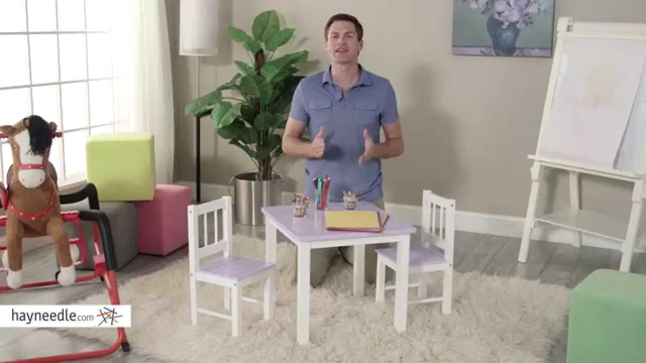 Lipper Kids Small Lilac and White Table and Chair Set - Product Review Video  sc 1 st  YouTube & Lipper Kids Small Lilac and White Table and Chair Set - Product ...