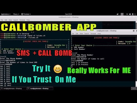 CALL bomber And SMS Bomber APP -: Only Works In india , Only Trusted Peoples See