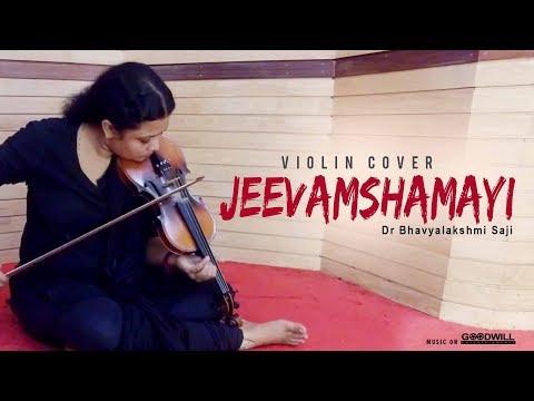Jeevamshamayi Violin Cover | Dr Bhavyalakshmi Saji | Theevandi Movie | Kailas Menon