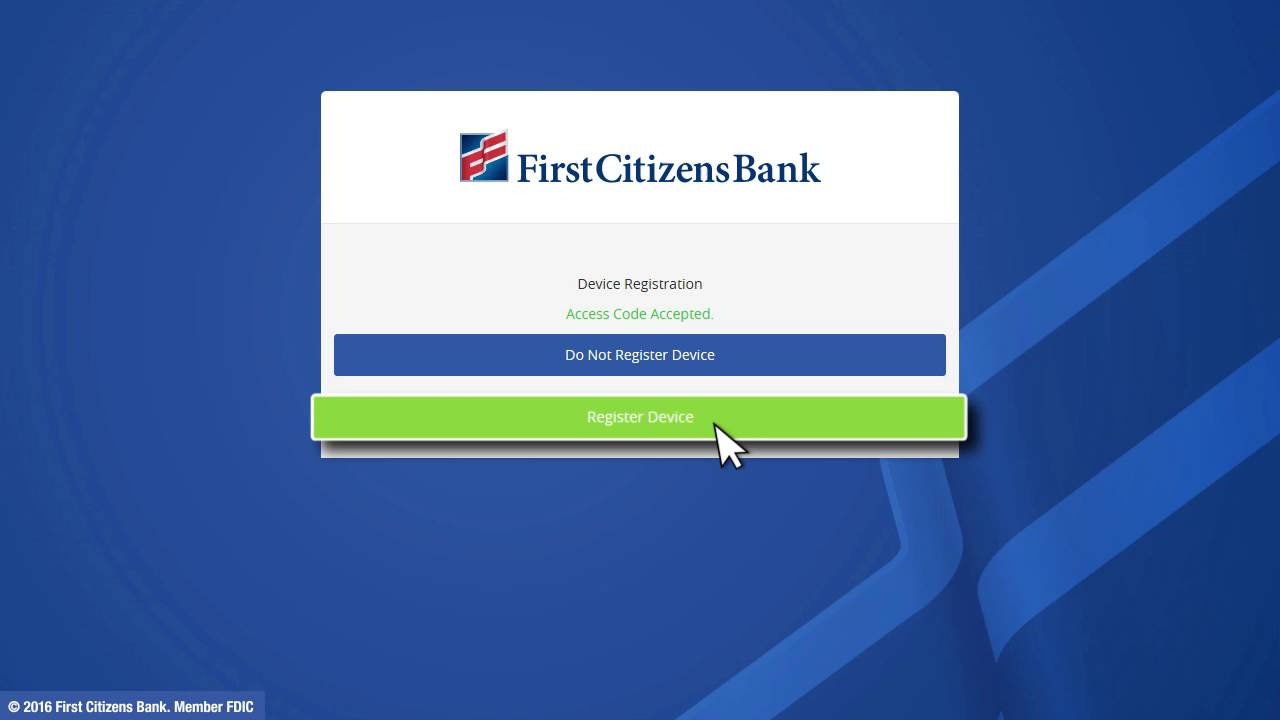 First Citizens Bank Digital Banking Demo - Login