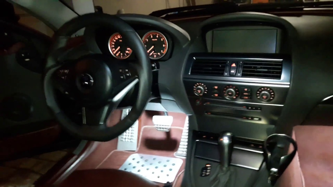 Bmw E63 645ci Led Interior Lights Youtube