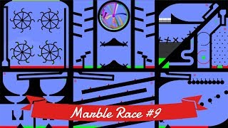 Marble Race #9: Elimination - 32 colors | Bouncy Marble