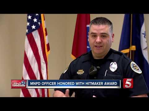 Metro Nashville Police Officer Honored With 'Hitmaker' Tourism Award