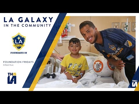 Dos Santos, Larentowicz, and Steres visit Children's Hospital of Los Angeles | Foundation Fridays