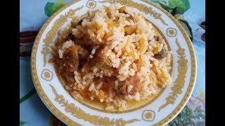 Рис с мясом по-быстрому