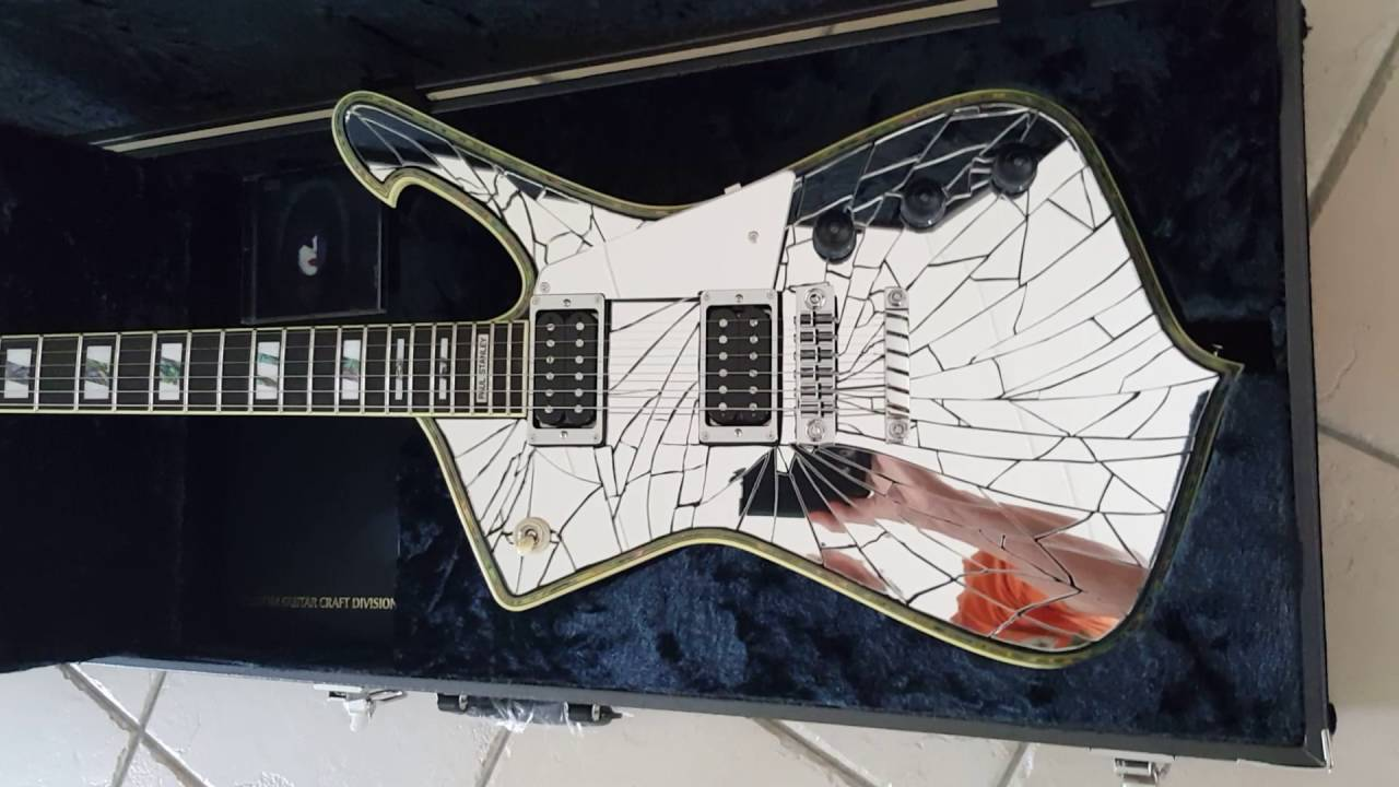 Kiss Paul Stanley Cracked Mirror PSCM1 PS1CM Ibanez iceman - YouTube