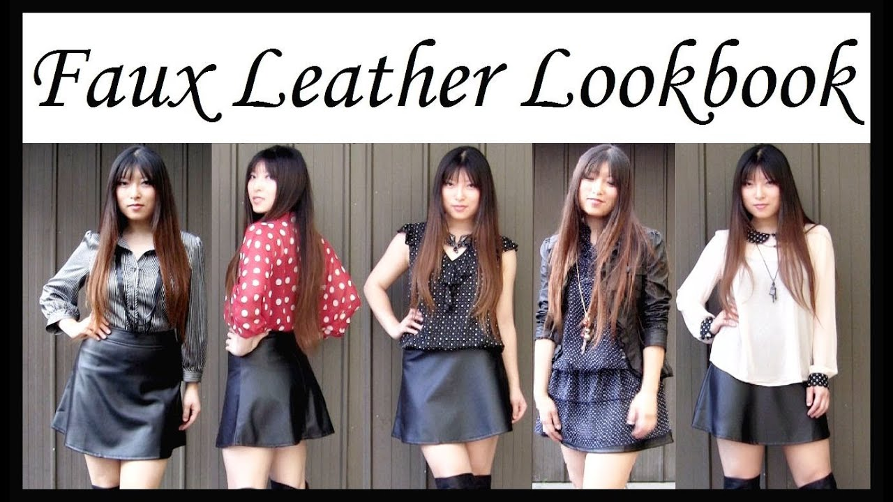 What To Wear With Faux Leather Skirt