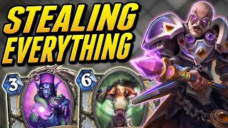 Stealing all their Cards! | Steal Priest | Wild Hearthstone Saviors of Uldum