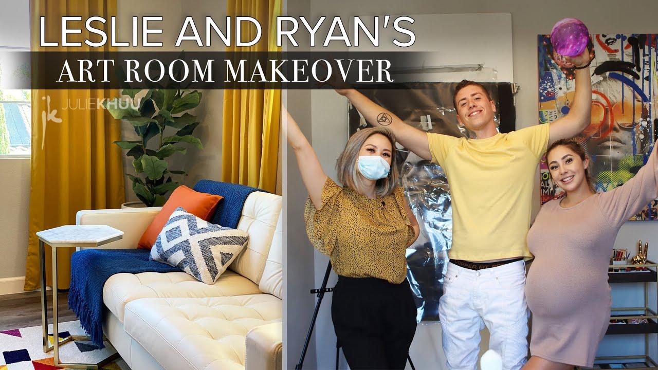 EXTREME ART ROOM MAKEOVER for Leslie and Ryan Through Our Eyes   Loft Transformation   Julie Khuu