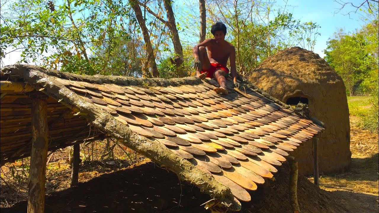 Secret Of Primitive: Update wooden house underground To Tiled Roof Hut